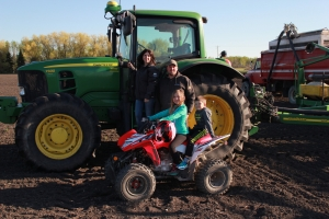 The Oswalds were chosen as Manitoba's Outstanding Young Farmers for 2017. Left to right: Kirsty, Brent, Taylor (9) and Brenden (6).